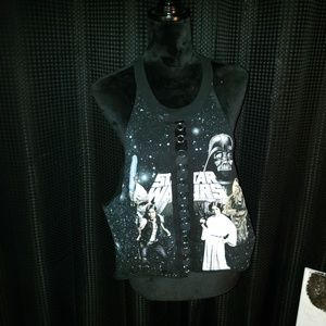 Forever 21 Tops - Cropped Starwars Top